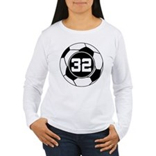 Soccer Number 32 Player T-Shirt