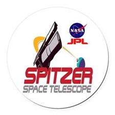 Spitzer Space Telescope Round Car Magnet