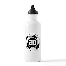 Soccer Number 20 Player Water Bottle