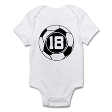 Soccer Number 18 Player Infant Bodysuit