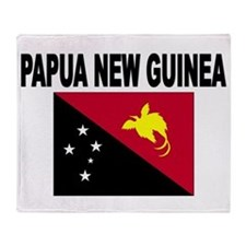Papua New Guinea Flag Throw Blanket