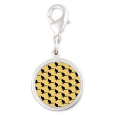 Wallaby Pattern. Yellow. Charms