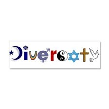 Unique Diversity Car Magnet 10 x 3