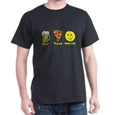 Beer Pizza Happiness T-Shirt
