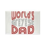 Worlds GREYEST Dad Rectangle Magnet