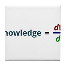 Knowledge is power Tile Coaster