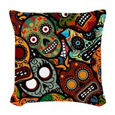 Day of the Dead Woven Throw Pillow