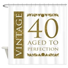 Fancy Vintage 40th Birthday Shower Curtain