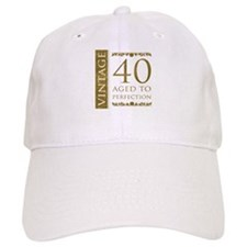Fancy Vintage 40th Birthday Baseball Cap