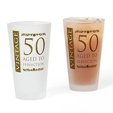 Fancy Vintage 50th Birthday Drinking Glass