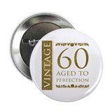 "Fancy Vintage 60th Birthday 2.25"" Button (10 pack)"