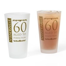 Fancy Vintage 60th Birthday Drinking Glass