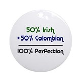 Irish and Colombian Ornament (Round)