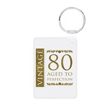 Fancy Vintage 80th Birthday Keychains