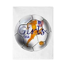 USA Girls Soccer Twin Duvet