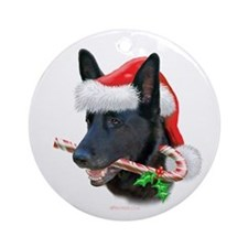 German Shepherd Christmas Ornament (Round)