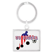 US Soccer Player Landscape Keychain