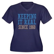 Keeping It Real Since 1960 Women's Plus Size V-Nec