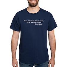 T.S. Eliot Quote Navy T-Shirt