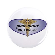 """Personalized Nurse 3.5"""" Button (100 pack)"""
