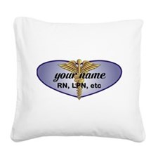 Personalized Nurse Square Canvas Pillow