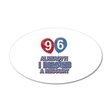 96 year old ballon designs 20x12 Oval Wall Decal