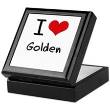 I Love Golden Keepsake Box