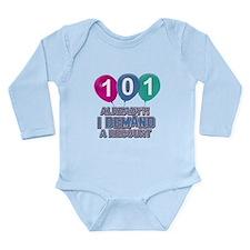 101 year old ballon designs Long Sleeve Infant Bod