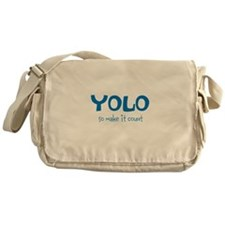 YOLO - teal Messenger Bag