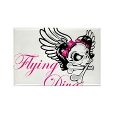 Flying Divas Rectangle Magnet