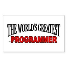 """The World's Greatest Programmer"" Decal"