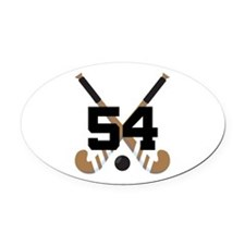 Field Hockey Number 54 Oval Car Magnet
