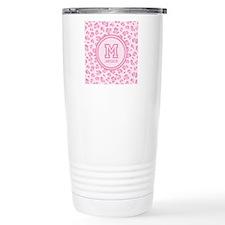 Pink Monogram Travel Mug