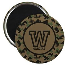 """Geek Camouflage Monogram 2.25"""" Magnet (100 pack)"""