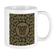 Geek Camouflage Monogram Small Mug