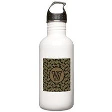 Geek Camouflage Monogram Water Bottle