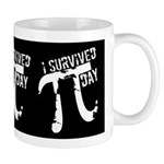Funny I Survived Pi Day Mug