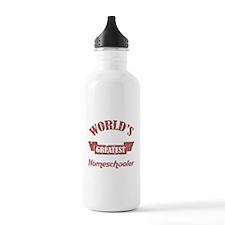 World's Greatest Homeschooler (For Dads) Water Bottle
