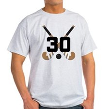 Field Hockey Number 30 T-Shirt