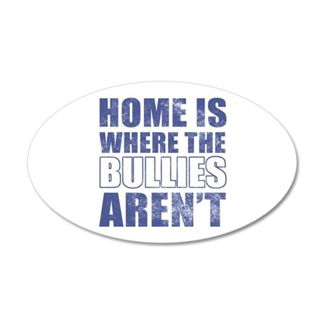 Home Is Where The Bullies Aren't 35x21 Oval Wall D
