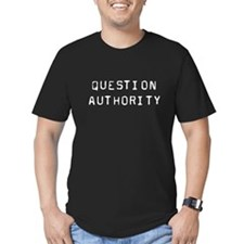 """Question Authority"" Black T-Shirt"