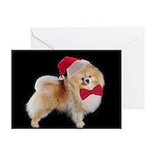 Santa Pom Christmas Cards (Pk of 10)