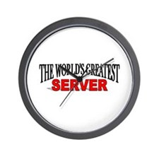 """The World's Greatest Server"" Wall Clock"