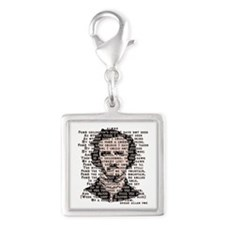 """ALONE"" Poe Poem Silver Square Charm"