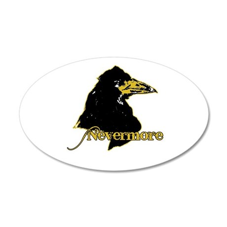Poe's Raven by Manet 35x21 Oval Wall Decal