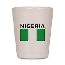 Nigeria Flag Shot Glass