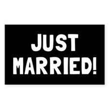 JUST MARRIED! Decal