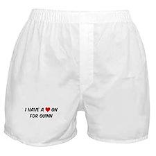 Heart on for Quinn Boxer Shorts