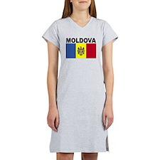 Moldova Flag Women's Nightshirt