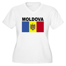 Moldova Flag Plus Size T-Shirt